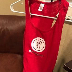 Red Pure Barre Tank Top